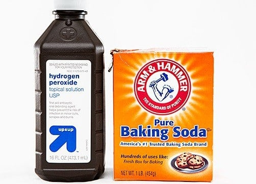 Baking soda and Hydrogen Peroxide