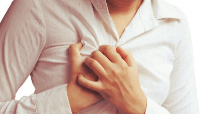 Chest pain under the breast